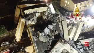 VIDEO: Selamat Meski Jatuh dari Jembatan Tol Ambruk Genoa