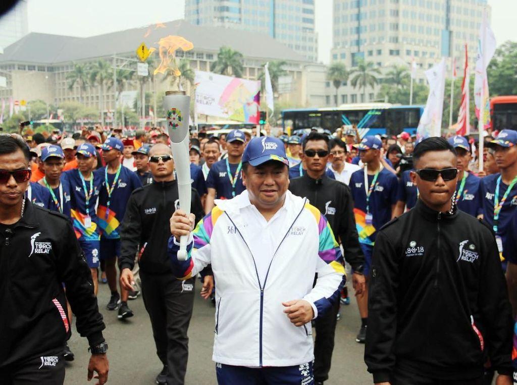 Pawai obor Asian Games 2018 di Jakarta telah melintasi Jakarta Timur, Jakarta Selatan, Jakarta Pusat, Jakarta Barat, dan Kepulauan Seribu. Istimewa.