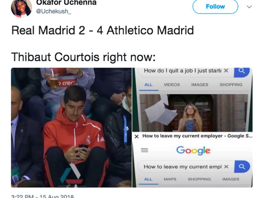 Digasak Atletico, Bertebaran Meme Madrid Rindu Ronaldo