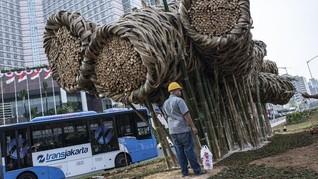 Bambu Bundaran HI Dibongkar, DPRD Minta Anies Bijak Anggaran