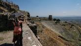 Itulah yang dipertahankan kota kuno yang dibangun pada abad ke-3 SM itu hingga kini. Itu pula yang menjadi atraksi bagi para turis. (Anadolu Agency/Mahmut Serdar Alakuş)