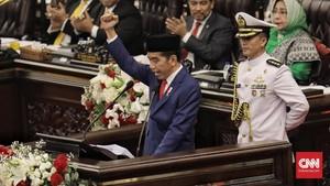 FOTO: Jokowi Paparkan Pencapaian Kerja di Sidang Tahunan MPR