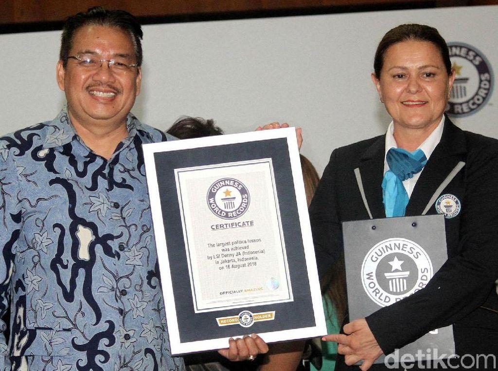 Indonesia Pecahkan Rekor Dunia untuk Pendidikan Politik