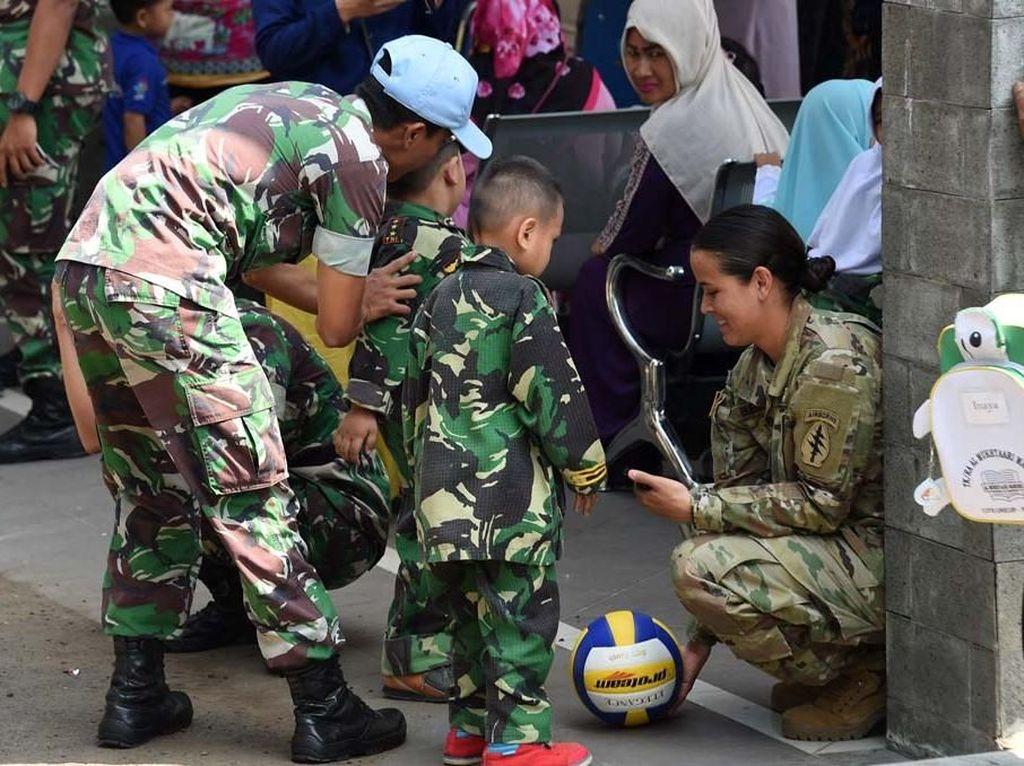 Acara ini dalam rangka memeriahkan HUT TNI ke-73. Pool/Puspen TNI.