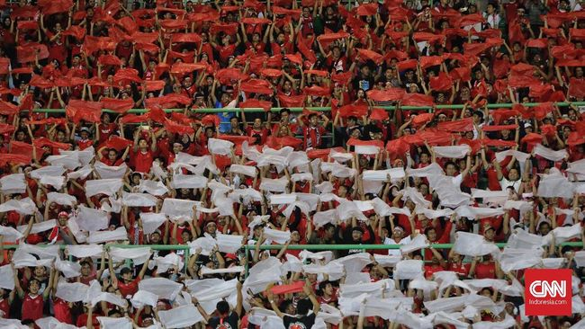 Suporter Timnas Indonesia Tantangan Taiwan di Piala Asia U-19