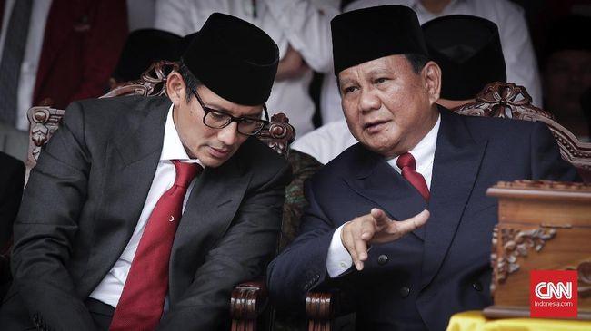 Prabowo-Sandi Rapat Usai Jumatan, Finalisasi Tim Sukses