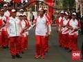 Jokowi Ikut Goyang Saat Via Vallen Nyanyi 'Meraih Bintang'