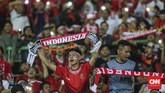 Militansi suporter Indonesia jadi penyuntik semangat skuat Garuda Muda yang tengah berjuang lolos dari fase Grup A Asian Games 2018. (CNNIndonesia/Adhi Wicaksono)