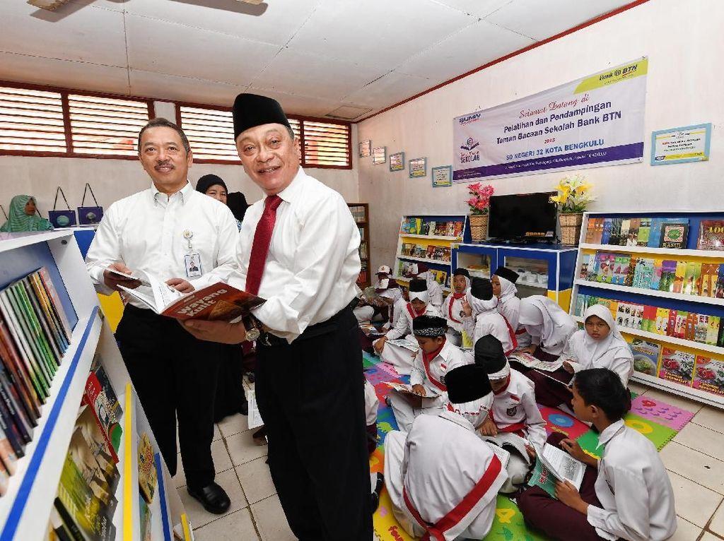 BTN Dirikan Taman Bacaan di 5 Sekolah Dasar di Bengkulu
