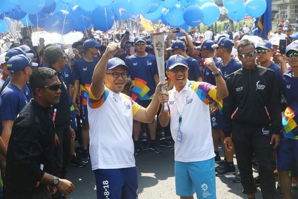 Bank Mandiri Ikut Semarakan Pawai Obor Asian Games