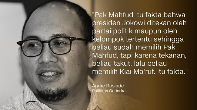 Politikus Gerindra, Andre Rosiade.