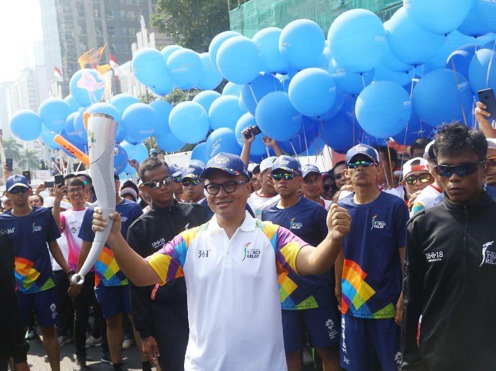 Sebagai official prestige partner, Bank Mandiri ikut menyemarakan pesta olahraga se-Asia tersebut. Istimewa.