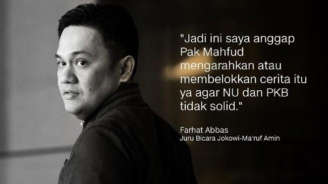 Juru Bicara Jokowi-Ma'ruf Amin, Farhat Abbas.