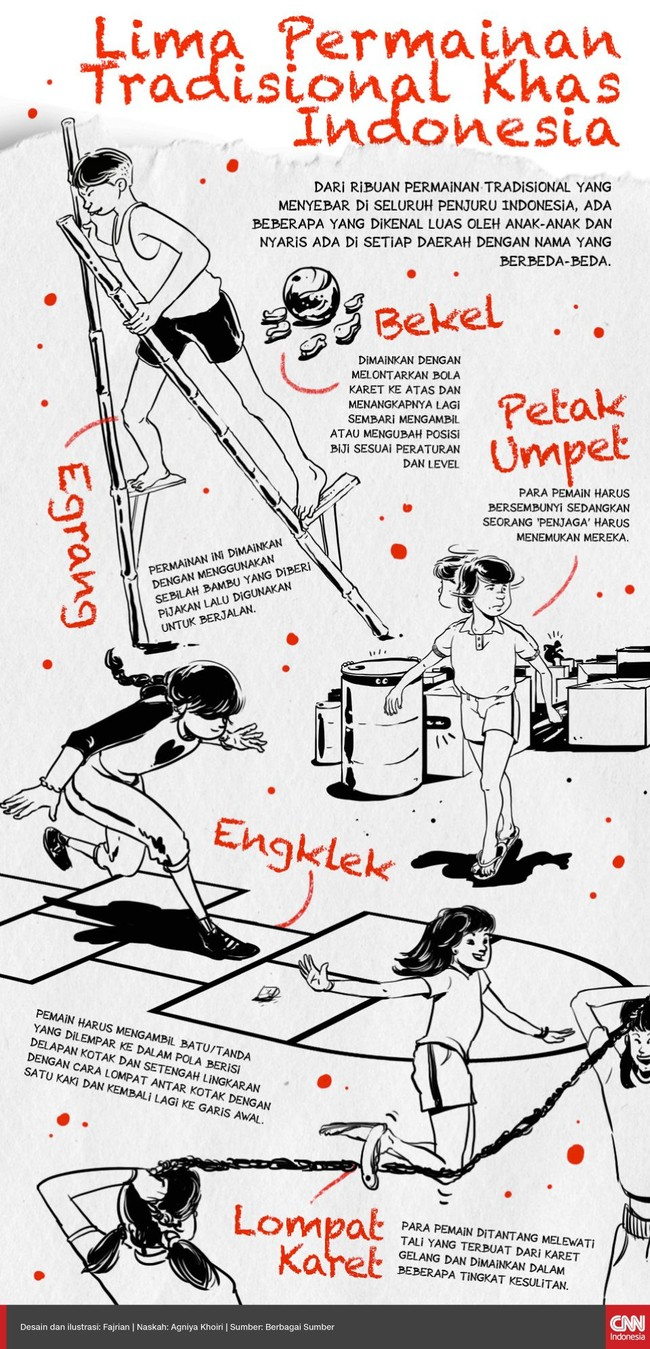 INFOGRAFIS: Lima Permainan Tradisional Khas Indonesia