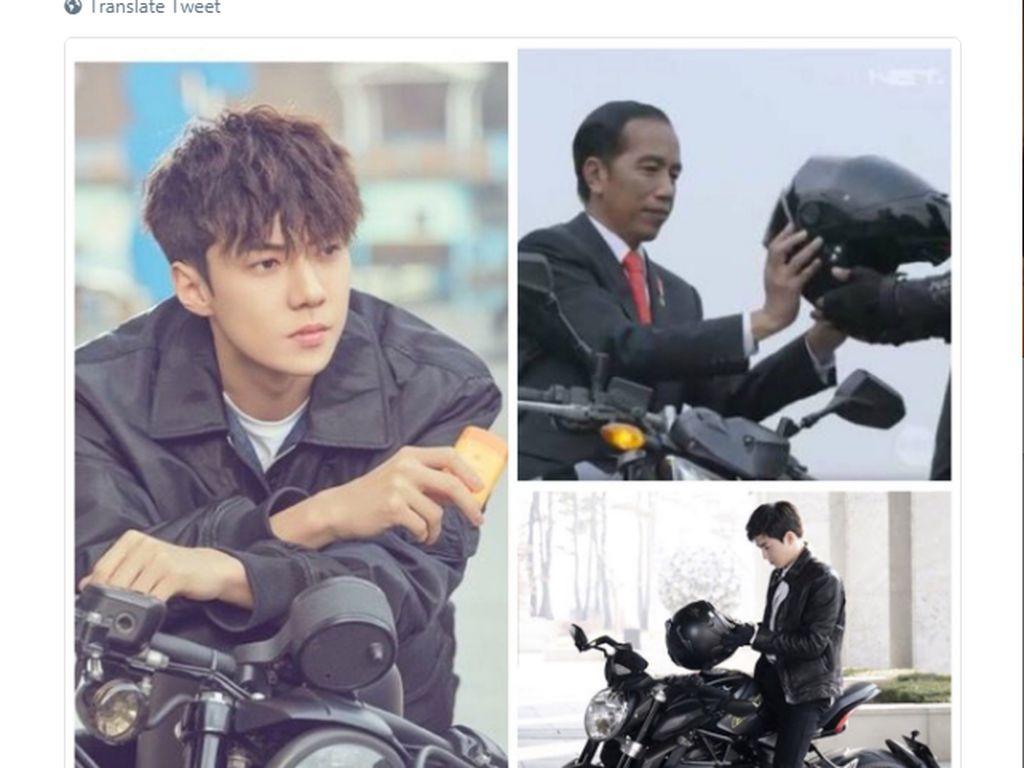 Banyak fans K-Pop yang menyamakan Jokowi dengan bintang drama Korea. Foto: Internet
