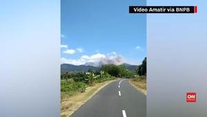 VIDEO: Detik-detik Gempa Lombok Longsorkan Kaki Rinjani