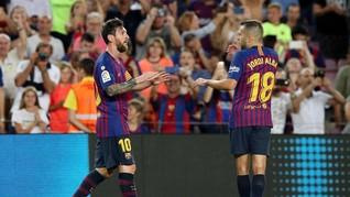 Messi Bawa Barcelona Raih Kemenangan Perdana di Liga Spanyol
