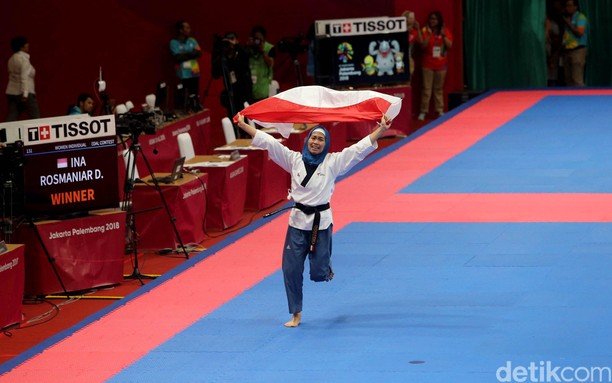 Bangga! Emas Perdana untuk Indonesia dari Taekwondo