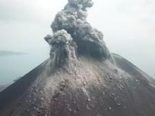 Asap Letusan Sampai 2,5 Km, Anak Krakatau Keluarkan Dentuman