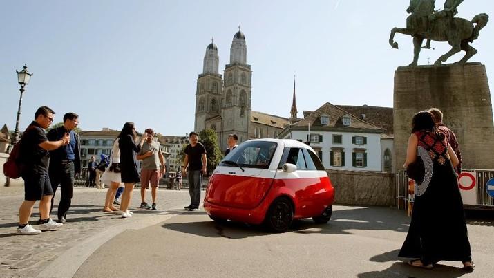 Dua Bersaudara di Swiss Buat Mobil Listrik Berbentuk Telur