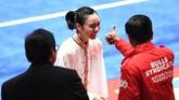 Emas Asian Games 2018 adalah emas pertama Lindswell Kwok di ajang empat tahunan tersebut. Empat tahun lalu, ia meraih perak. (ANTARA FOTO/INASGOC/Akbar Nugroho Gumay)