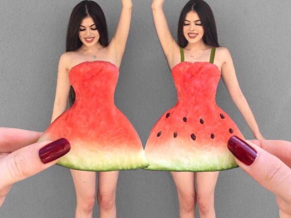 Cantik Kayak Barbie! 2 Gadis Kembar Ini Sering Foto Bareng Makanan