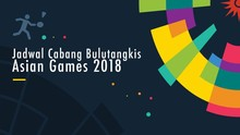 Jadwal Pertandingan Bulutangkis di Asian Games 2018