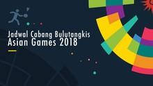 Jadwal Pertandingan Bulutangkis di Asian Games 2018