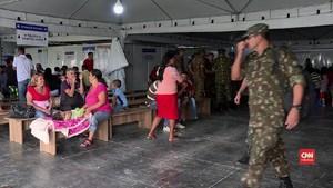 VIDEO: Warga Venezuela dan Brasil Bentrok di Perbatasan