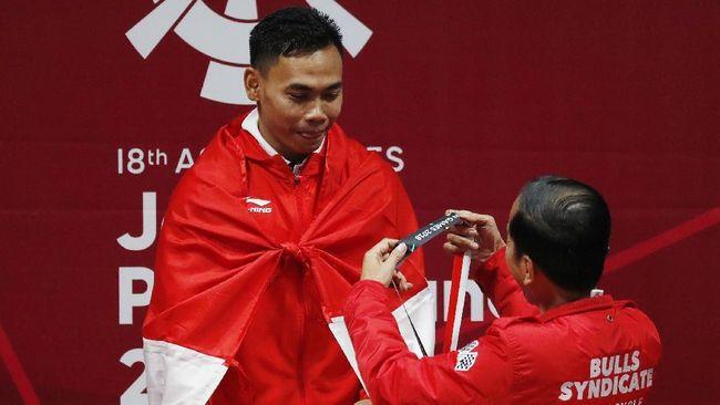 Eko Yuli Tuntaskan Penasaran Medali Emas Asian Games