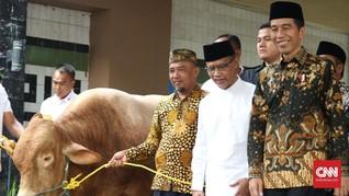 Silaturahmi ke Muhammadiyah, Jokowi Serahkan Dua Ekor Sapi