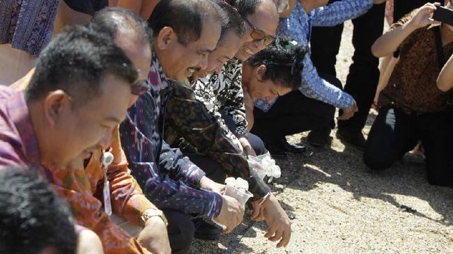 Melepaskan Tukik-tukik ke Laut di Sanur Village Festival