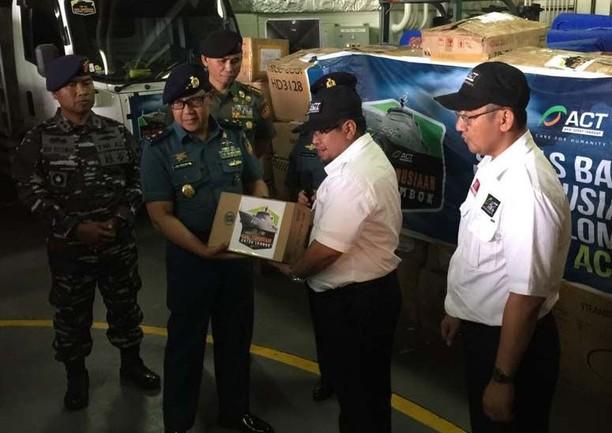 Bantuan 20.000 Kotak Susu Cair untuk Korban Gempa Lombok