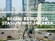 Kerennya Stasiun MRT Jakarta yang Mirip Singapura!