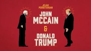 Jejak Perseteruan John McCain dan Donald Trump