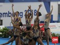 FOTO: Pesona Tim Renang Artistik Indonesia di Asian Games