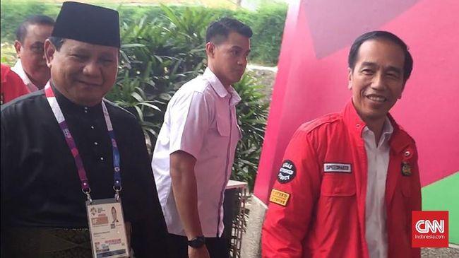 Prabowo-Jokowi Bertemu dan Saling Senyum di Venue Silat