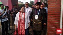 Prabowo dan Megawati Beriringan di Venue Silat Asian Games