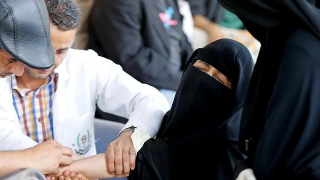 Pusat Onkologi Nasional di Ibu Kota Yaman, Sanaa, pun mengakui bahwa saat ini mereka sangat kesulitan. (Reuters/Khaled Abdullah)