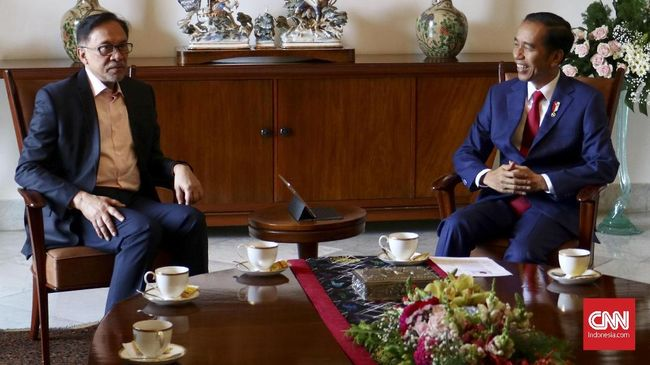 Anwar Ibrahim Menemui Presiden Jokowi di Istana Bogor