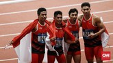 Zohri (18 tahun), Eko (23), dan Bayu (20) membuat Indonesia bisa punya tim atletik yang makin berprestasi di masa mendatang. CNN Indonesia/Andry Novelino)