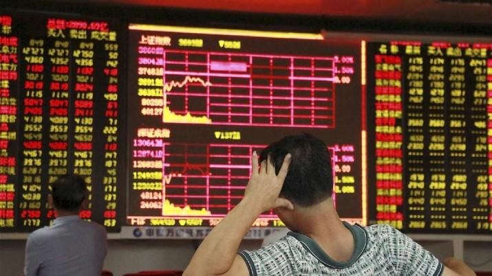 Mayoritas bursa saham utama kawasan Asia ditutup di zona merah pada perdagangan hari ini.