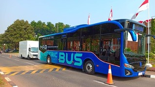 Administrasi Bus Listrik TransJakarta Selesai Tahun Ini
