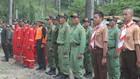 Ratusan Personil Gabungan Lakukan Apel Siaga Kebakaran Hutan