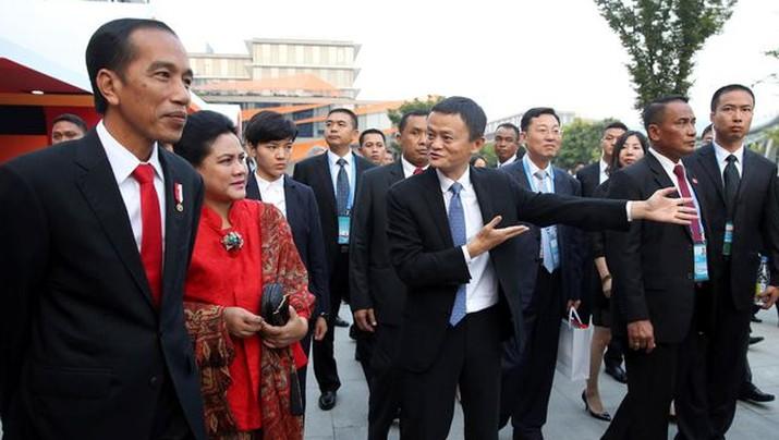Jokowi-Jack Ma di China