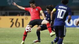 Final Korsel vs Jepang Berakhir Imbang di Babak Pertama