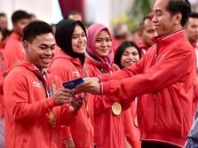 Jokowi Beri Janji, Bagikan Bonus Sebelum Asian Games Ditutup