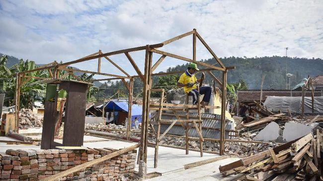 Pembangunan Ribuan Hunian Korban Gempa Lombok Berjalan Lambat
