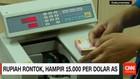 Rupiah Rontok, Hampir 15.000 per Dolar AS