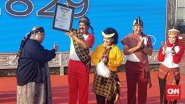 TNI Pecahkan Rekor Senam Gemu Famire di Tiga Zona Waktu
